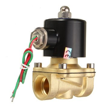 GENERIC 2W-200-20 AC220V 3/4inch Brass Electric Solenoid Valve Water Air Fuels Fittings at amazon