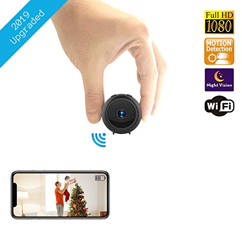 Hidden Spy Wireless Camera | Home WiFi Security Surveillance Mini Baby Nanny USB Cam | Live Motion Detection Remote Phone USB Charging Monitoring