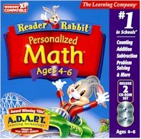 New Learning Company Reader Rabbit Personalized Math 4-6 Dlx 2cd Jc Sequencing Ordering Solving