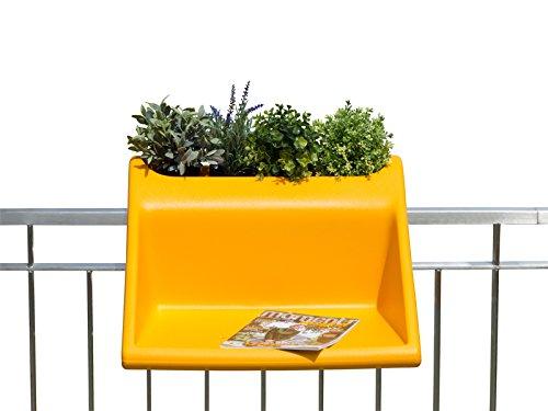 Rephorm® balKonzept   Balkontisch mit integriertem Blumenkasten (mango)