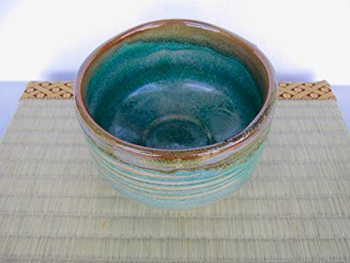 Matcha bowl Japanese tea cup for tea ceremony, authentic ceramic Made in Japan Green