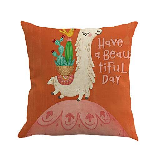 (Littay Pattern Pillowcase Pillow Case Cushion Cover Sofa Home Car Decor)