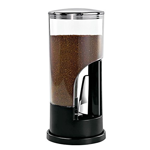 Zevro KCH-06079 Indispensable 1/2-Pound-Capacity Coffee Dispenser, Black (Ground Dispenser Coffee)