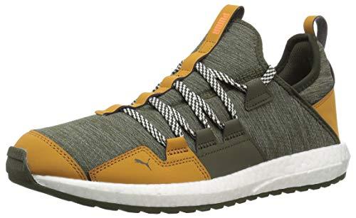 PUMA Men's Mega NRGY Trail Sneaker, Forest Night-Buckthorn B