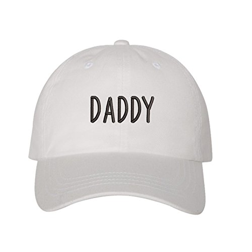 Prfcto Lifestyle Daddy Dad Hat - White Baseball Cap - Unisex