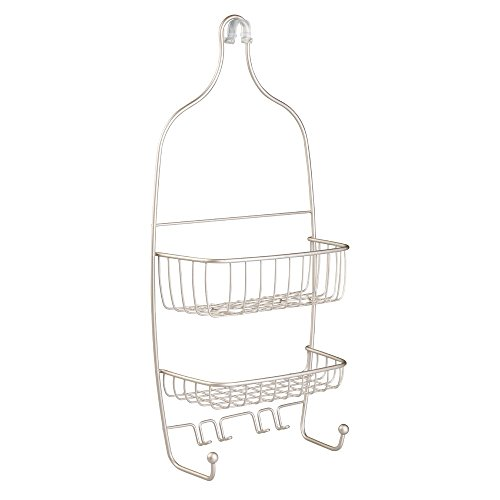 Nickel Shower Caddy (InterDesign Raphael Hanging Shower Caddy – Bathroom Storage Shelves for Tall Shampoo and Conditioner Bottles, Satin)