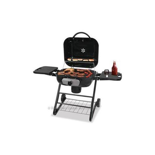 Blue Rhino CBC1255SP deluxe outdoor charcoal grill, 480 square inch Cooking Surface, Ash Pan, Built-in Wheels, Adjustable Grate, Storage Shelf, Porcelain Steel, Black (Blue RhinoCBC1255SP )