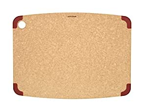 Epicurean Non-Slip Series Cutting Board, 17.5-Inch by 13-Inch, Natural/Red