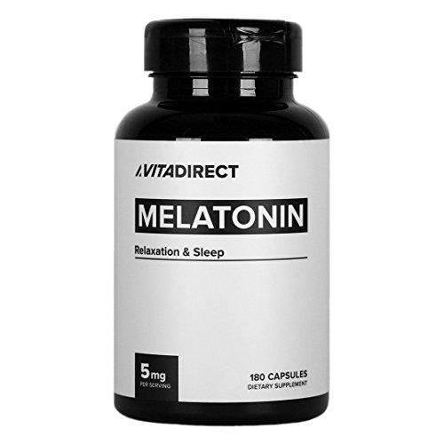 5 Mg 180 Pills (VitaDirect Melatonin 5mg Pills, 180 Capsules)