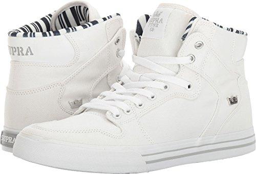 Supra Vaider Skate Schuh Hellgrau - Weiß