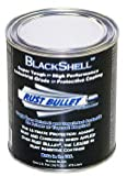 Rust Bullet BSP BlackShell Rust Preventative and Protective Coating Paint, 1 Pint Metal Can, Gloss Black