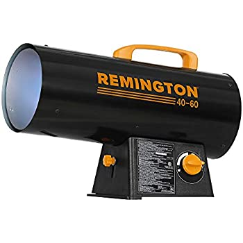 Remington Heater REM-60V-GFA-O Variable BTU for Heating up to 1500 Square feet, 60,000, Black