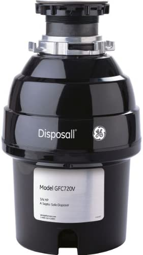General Electric GFC720V Continuous Feed Disposall, Super capacity, 3 4 horsepower, Black