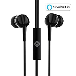 Motorola Pace 100 in-Ear Headphones with Mic (Black)