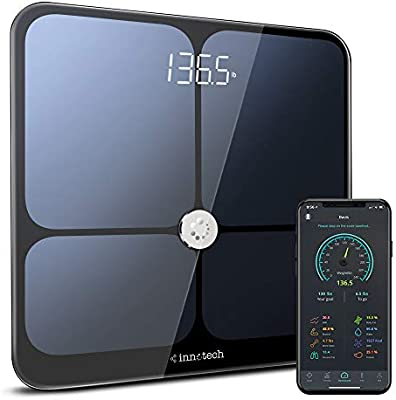 Innotech Smart Bluetooth Body Fat Scale Digital Bathroom Weight Weighing Scales Body Composition BMI Analyzer & Health Monitor with Free APP, ...