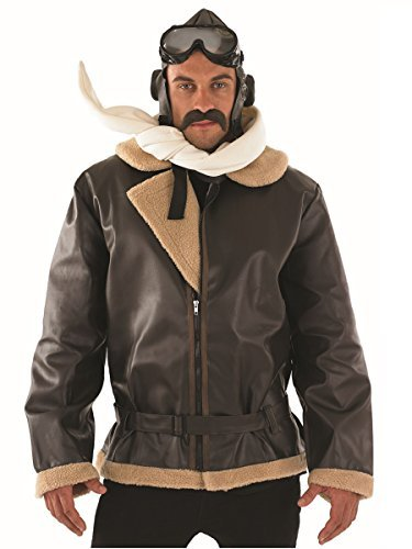 Biggles Costume (Fun Shack Adult Biggles WW2 Wartime Fighter Pilot Costume - X LARGE by Fun Shack)