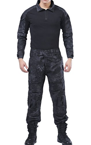 Animal Ruins Camo Tactical BDU Combat Shirts Top Pant Uniform Sets Ripstop by XinAndy Military