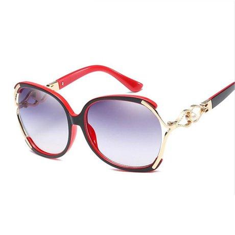 Gafas nbsp; Elegantes Gafas de de nbsp;Decoración Sol Moda Grande Marco de de Mujer GGSSYY Moda Gafas Gafas Red Mujeres Azul Sol Gafas nbsp; HTAPq