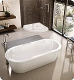 Fleurco Aria TRANQUILITY grande 69'' x 32'' x 20'' Freestanding Acrylic Soaking White Bathtub BTR6932