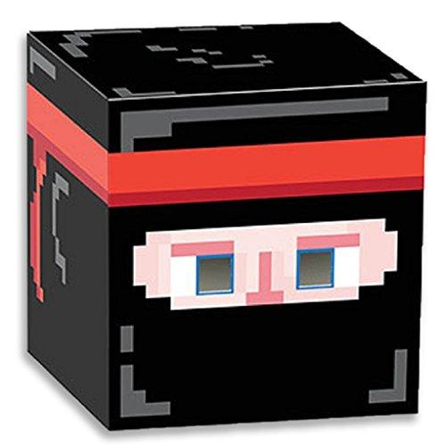[8-Bit Box Head Party Game - Ninja] (Adult Minecraft Costumes)
