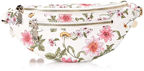 GUESS Detail Floral Belt Bag, White