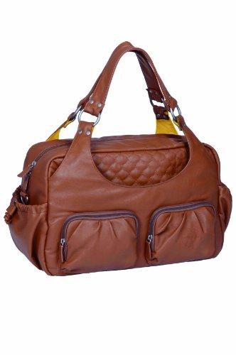 Lassig Tender Multi Pocket Diaper Bag, Cognac