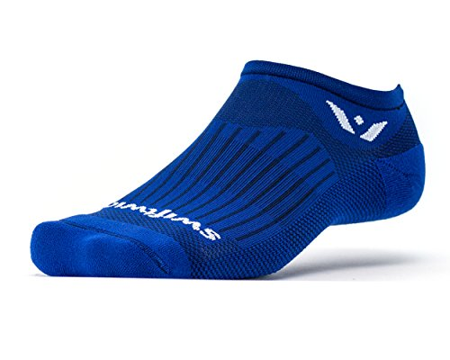 Swiftwick   Aspire Zero  No Show Socks For Endurance Sports  Cobalt Blue   Large