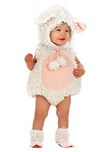 Princess Paradise Baby Girls' Premium Laura The Lamb, White/Pink, 12-18 -