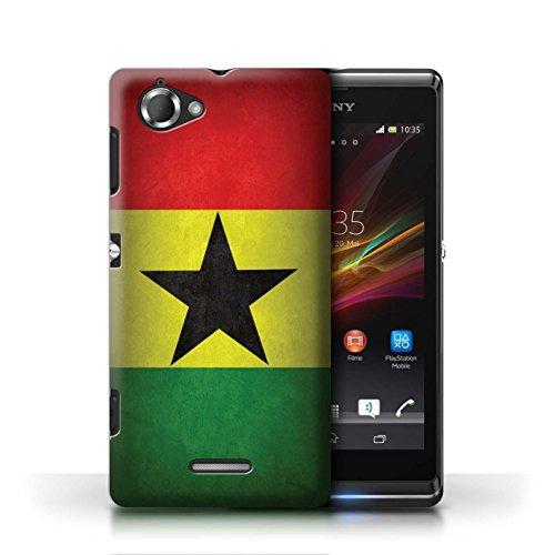 Etui / Coque pour Sony Xperia L/C2105 / Ghana conception / Collection de Drapeau
