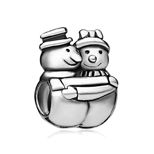 Couple Snowman Charms Gifts For Bracelets (Wife Husband Snowman)