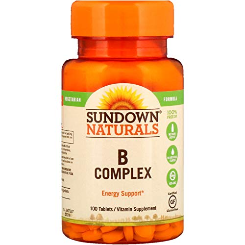 Sundown Naturals B Complex Energy Support, 100 Tablets Each (Value Pack of 3)