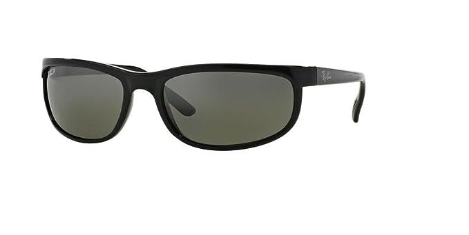 3b43ef7221 Ray-Ban RB2027 PREDATOR 2 601 W1 62M Black Dark Grey Polarized Sunglasses