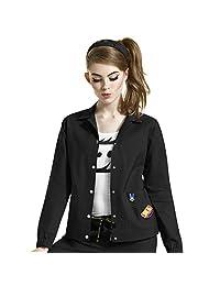 I Love Wonderwink Women's Denim Style Solid Scrub Jacket