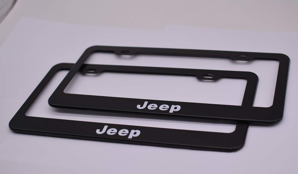 Auto sport 2pcs License Plate Frames with Screw Caps Set Stainless Steel Frame Applicable to US Standard Cars License Plate Fit BMW Accessory