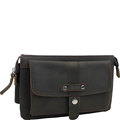 Vagabond Traveler Large Fashion Leather Waistpacks (Dark Brown) by Vagabond Traveler