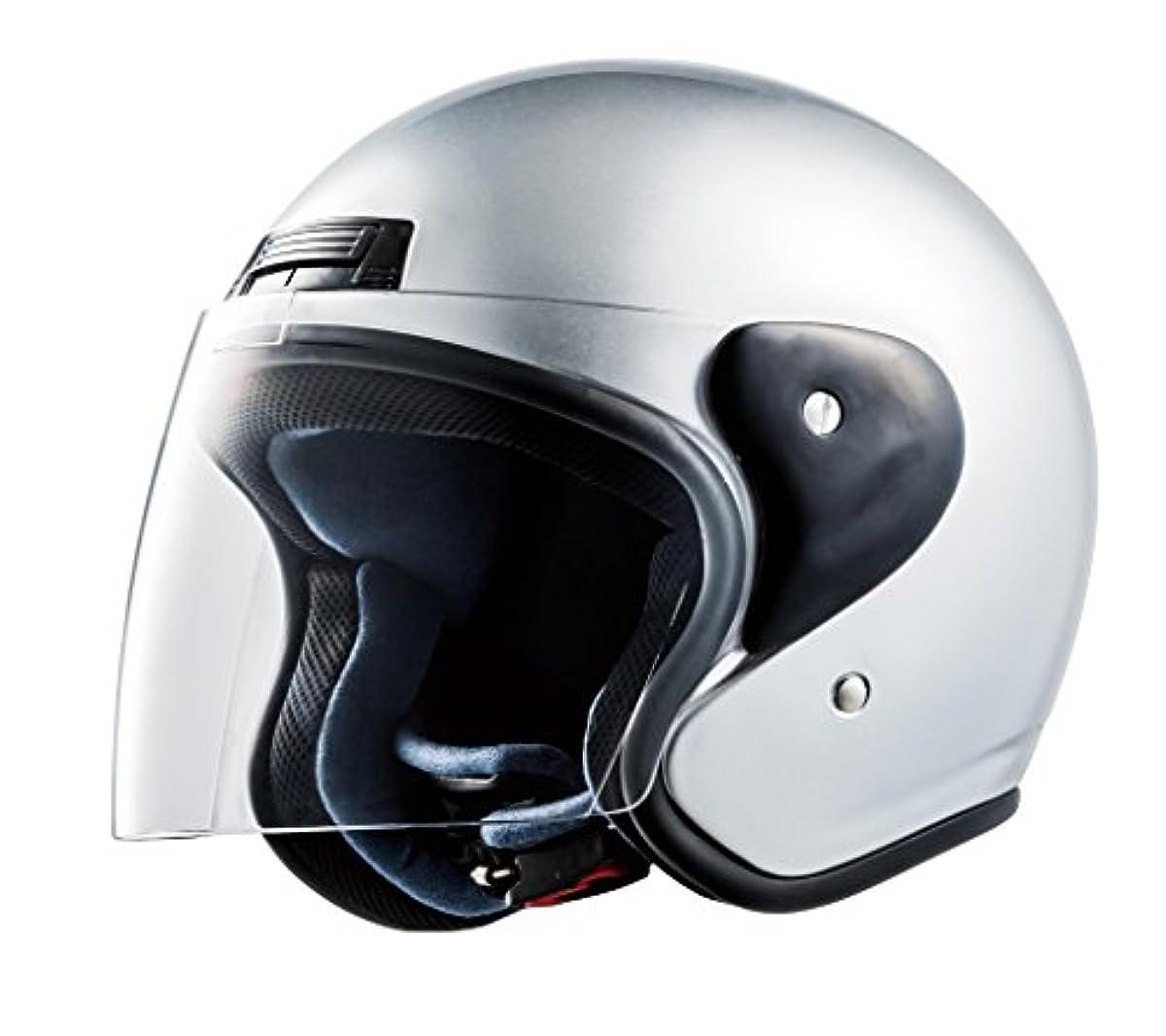 [해외] CEPTOO (세푸토) 오토바이용 헬멧 제트 실버 프리 사이즈 JC-3
