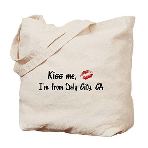 CafePress - Kiss Me: Daly City - Natural Canvas Tote Bag, Cloth Shopping - Daly Shopping City