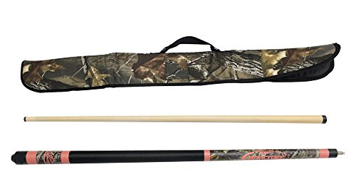Viper Realtree 19 oz Pink Camo Cue with Soft Hardwoods HD Camo Case (Realtree Pool Stick)