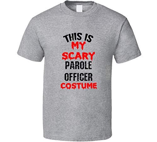 SHAMBLES TEES This is My Scary Parole Officer Costume Funny Occupation Halloween T Shirt L Sport Grey ()