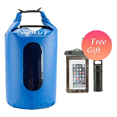 Pinty 20L Waterproof Dry Bag for Water Sports, 20L Dry Sack for Kayaking, Floating, Beach, Rafting, Swimming, Boating, Camping, Fishing, Watertight Backpack with Waterproof Cellphone Bag