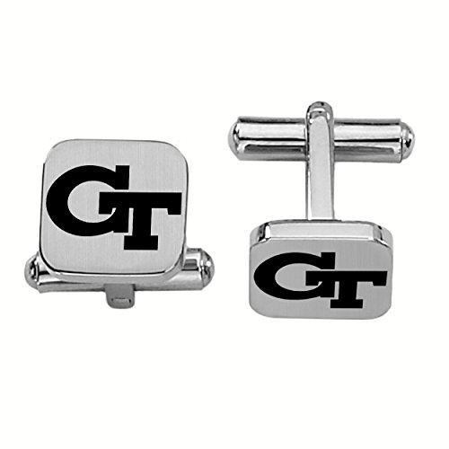 College Jewelry Georgia Tech Yellow Jackets Stainless Steel Square Cufflinks by College Jewelry