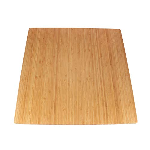 "BambooMN - Bamboo Burner Cover Cutting Board, New Vertical Cut, Large, Square - Flat (20""x20""x0.75"")"