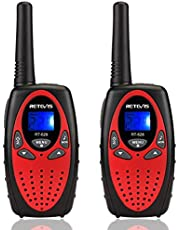 Retevis RT628 Kids Walkie Talkies Color Screen Toy Volume Adjustable 2 Way Radio for Kids (Red, 1 Pair)