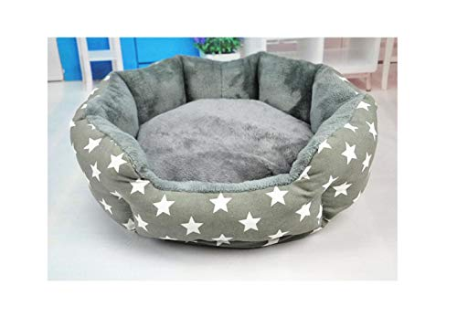 (LinJiaJia_shop Dog Bed Cat Bed Soft Pet Pad Cushion Pet Mat Dog House Furniture Puppy Blanket Pet Bed,Gray,S)