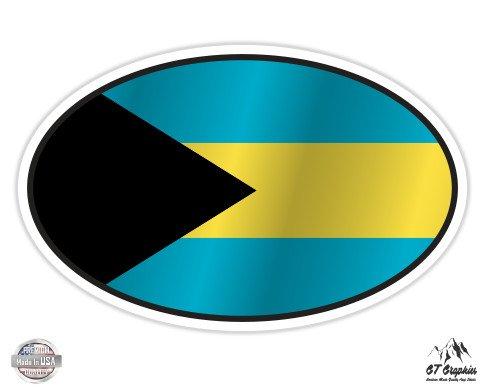 Bahamas Flag Oval - 3