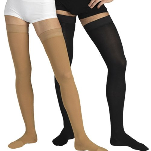 23-32 mmHg MEDICAL COMPRESSION Stockings with CLOSED Toe, FIRM Grade Class II, Thigh High Support Socks with Toecap (M (Body height 66.9-71.7 inch), Beige) by Tonus Elast