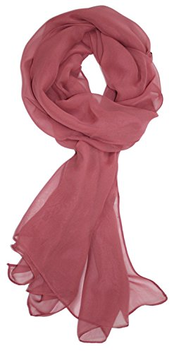 (Ted and Jack - Solid Silk Lightweight Accent Scarf (Dusty Rose))