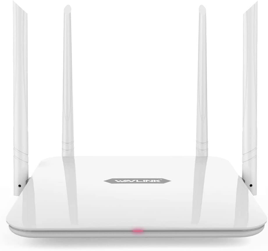 WAVLINK 1200Mbps Dual Band Smart WiFi 2 x 2 Antenas MIMO 5dBi Router 5G y 300Mbps a 2.4GHz / Alta Velocidad High Speed Range Extender / 5GHz Gigabit Router inalámbrico a Internet para el hogar