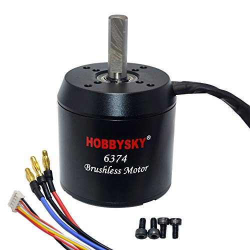 - Hobbysky 6374 190KV Brushless Outrunner Motor Belt Drive Motor with Closed Cover and Hall Sensor for DIY Electric Skateboard Electric Bike Mini Scooter Surfboard (10mm Shaft)