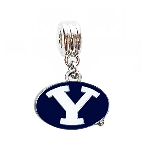 Brigham Young Byu Cougars Football (BYU BRIGHAM YOUNG UNIVERSITY COUGARS CHARM SLIDER PENDANT FOR YOUR NECKLACE EUROPEAN CHARM BRACELET (Fits Most Name Brands) DIY PROJECTS ETC)